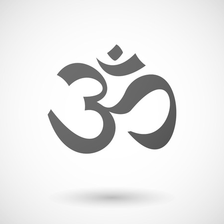 ohm symbol: Illustration of an isolated grey Om sign