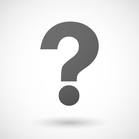 Illustration of an isolated grey question sign
