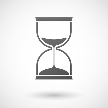 reloj: Ilustración de un gris icono del reloj de arena aislado Vectores