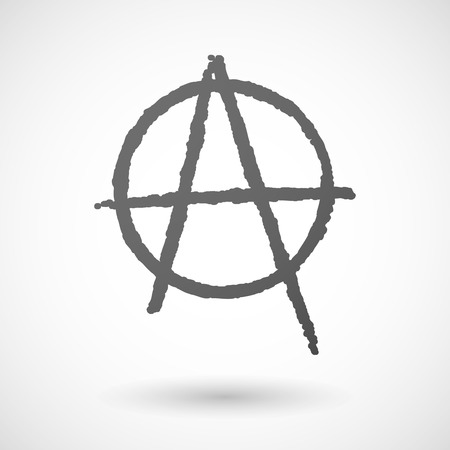anarchist: Illustration of an isolated grey anarchy icon