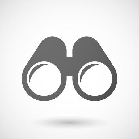 Illustratie van een geïsoleerde grijze verrekijker icoon Stockfoto - 38310135