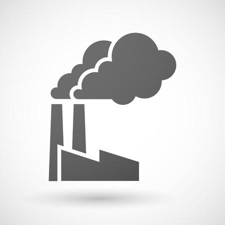 Ilustracja z izolowanym ikony fabryki szary Ilustracje wektorowe
