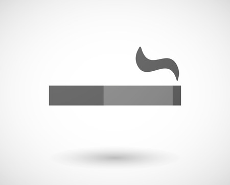 cigar shape: Illustration of an isolated grey cigarette icon