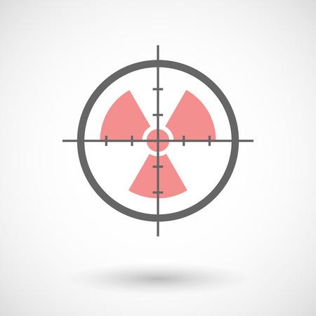 radio activity: Illustration of a crosshair icon with a radio activity sign