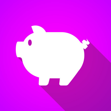 long shadow: Illustration of a long shadow pig icon