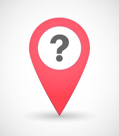 point d interrogation: Illustration d'une icône de carte de marque avec un signe de question Illustration