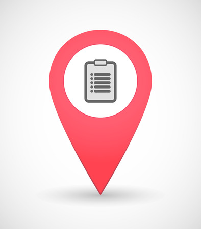 Illustration of a map mark icon with an inform