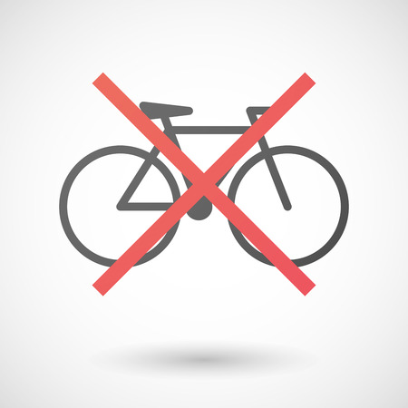 allowed: Illustration of a not allowed icon with a bicycle Illustration
