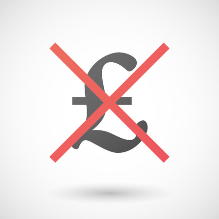 Illustration of a not allowed icon with a pound sign