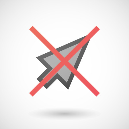 allowed: Illustration of a not allowed icon with a pointer Illustration