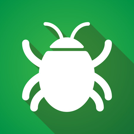 long shadow: Illustration of a long shadow bug icon