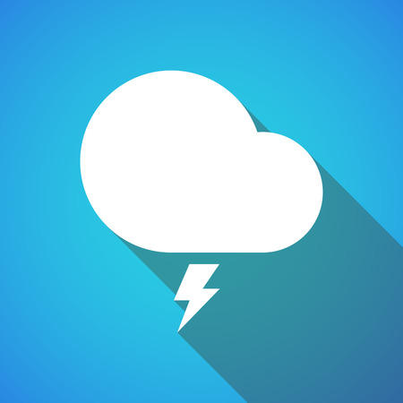 storm cloud: Illustration of a long shadow storm cloud icon Illustration