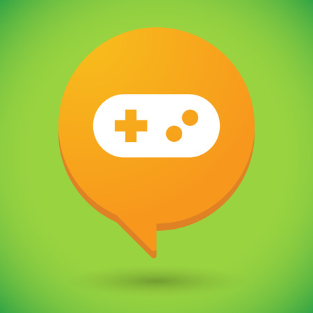 game pad: Illustration of a comic balloon icon with a game pad