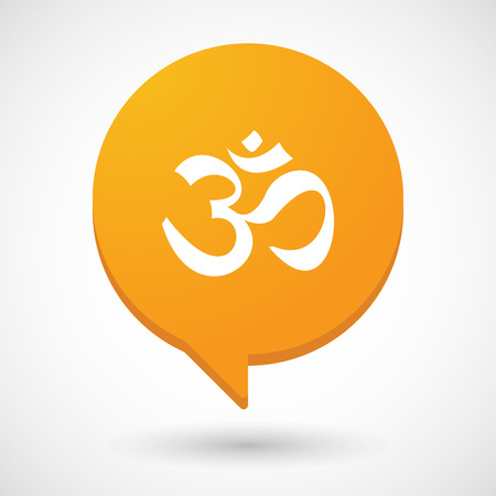 zen aum: Illustration of a comic balloon icon with an om sign Illustration