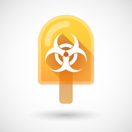 food poison: Illustration of an ice cream icon with a biohazard sign