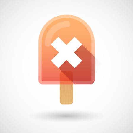 Illustration of an ice cream icon with an X sign Vector