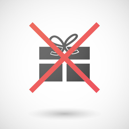 Illustration of a not allowed icon with a present Vector