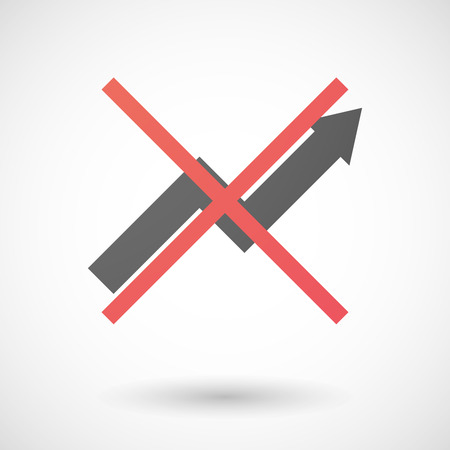 Illustration of a not allowed icon with a graph Vector
