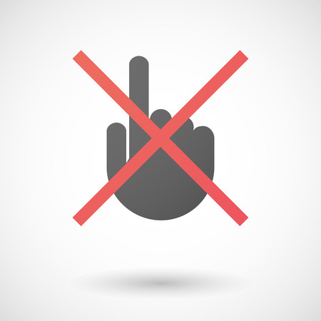 not allowed: Illustration of a not allowed icon with a pointing hand Illustration