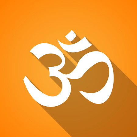 Illustration of a long shadow om icon Vector