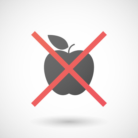 Illustration of a not allowed icon with a fruit  イラスト・ベクター素材