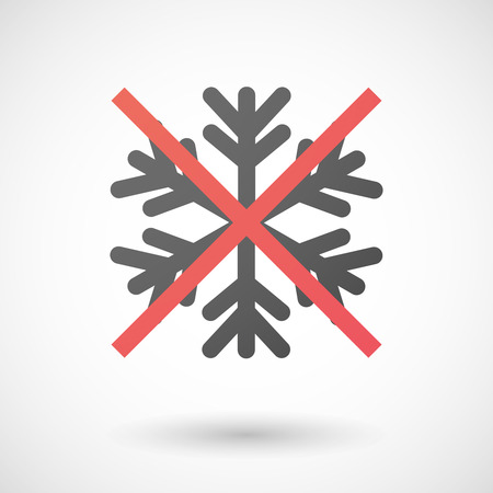snow flake: Illustration of a not allowed icon with a snow flake Illustration