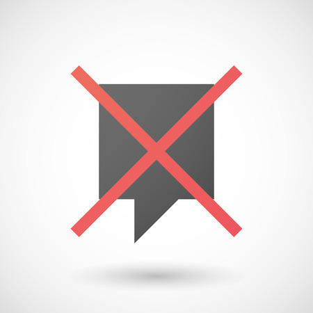 not allowed: Illustration of a not allowed icon with a tooltip