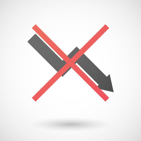 not allowed: Illustration of a not allowed icon with a graph