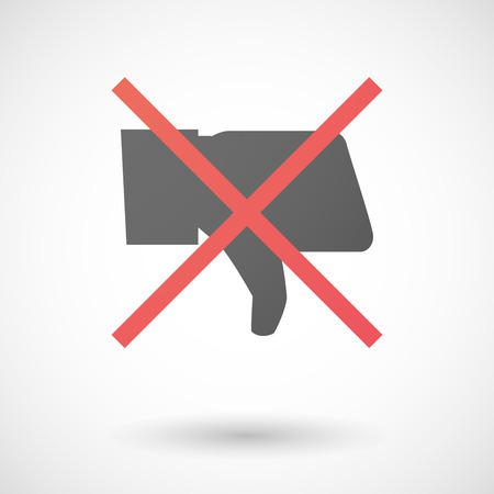 not allowed: Illustration of a not allowed icon with a thumb hand