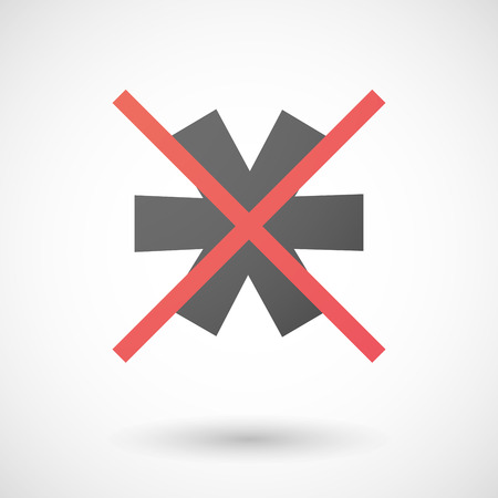 not allowed: Illustration of a not allowed icon with an asterisk