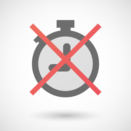 negation: Illustration of a not allowed icon with a timer