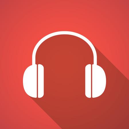 earphones: Illustration of a long shadow earphones