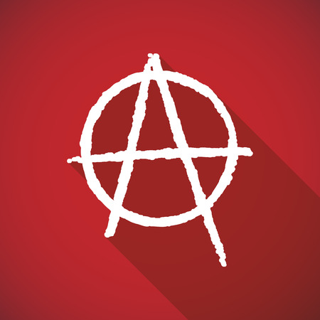 social movement: Illustration of a long shadow anarchy icon