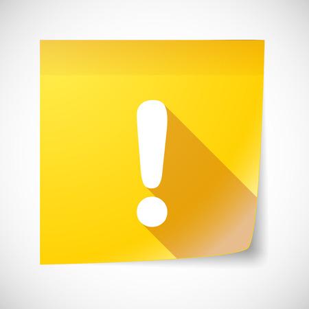 note of exclamation: Ilustraci�n de un icono de nota adhesiva con un signo de exclamaci�n