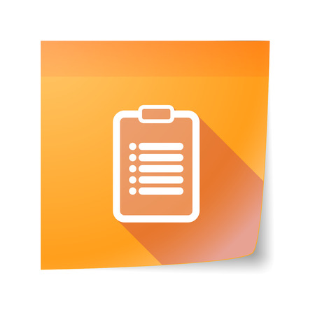 inform: Illustration of an isolated sticky note icon with an inform