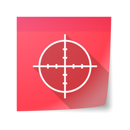sticky note: Illustration of an isolated sticky note icon with a crosshair