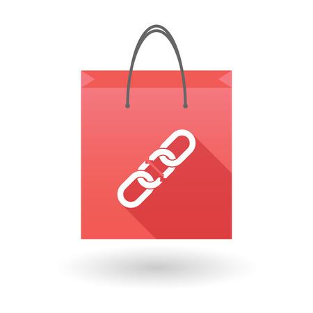 shopping bag icon: Illustration von einer Einkaufstasche Symbol mit einer Kette