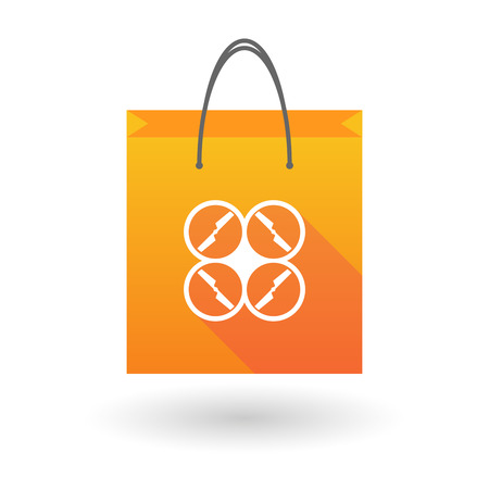 shopping bag icon: Illustration of a shopping bag icon with a drone