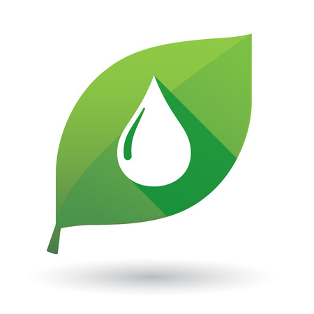 green fuel: Illustration of a green leaf icon with a fuel drop