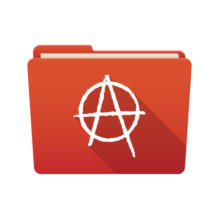 social movement: Isolated file folder icon with an anarchy sign Illustration