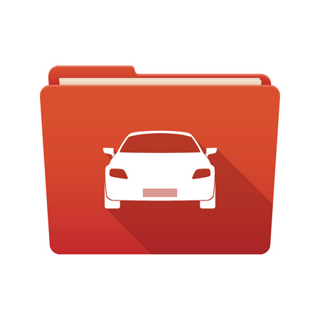 tire cover: Isolated file folder icon with a car