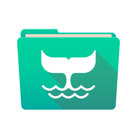 tail: Isolated file folder icon with a whale tail Illustration