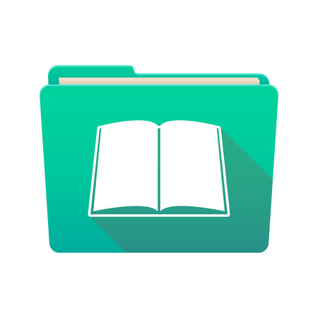 open magazine: Isolated file folder icon with a book