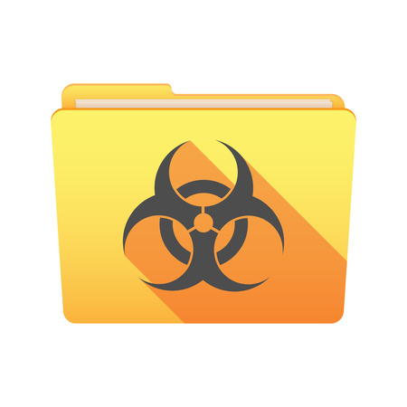 hazard sign: Isolated file folder icon with a bio hazard sign Illustration