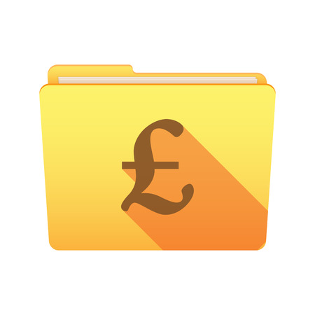 pound sign: Isolated file folder icon with a pound sign