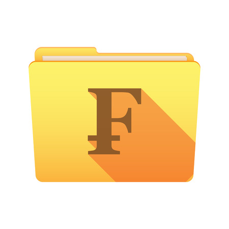 frank: Isolated file folder icon with a swiss frank sign