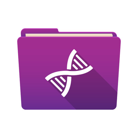 transgenic: Isolated file folder icon with a DNA sign