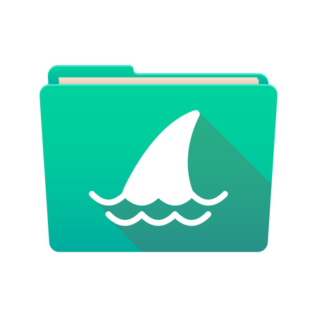 Isolated file folder icon with a shark fin Vector