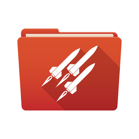 missiles: Isolated file folder icon with missiles Illustration