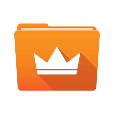 Isolated file folder icon with a crown Vector